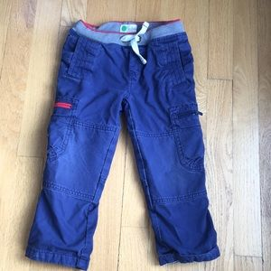 Mini Boden lined cargo trousers/ pants